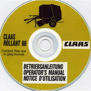 claas rollant 66 round baler operator s manual on cd bargain box com rh bargain box com Claas Baler Parts 250 Claas Baler